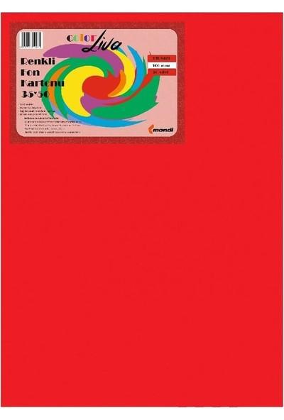 Color Liva Mondi Fon Kartonu Kırmızı 35X50 50'Li Paket