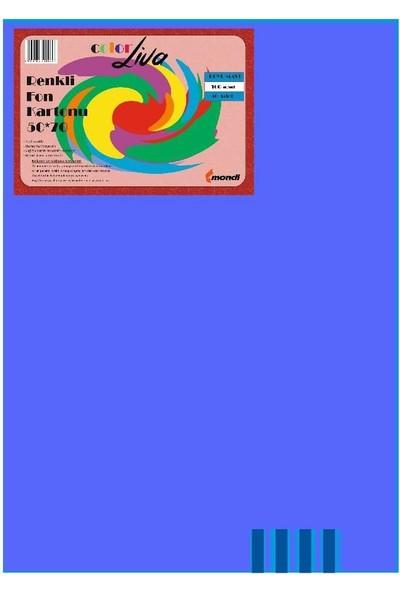 Color Liva Mondi Fon Kartonu Koyu Mavi 50X70 100'Lü Paket