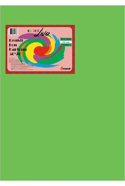 Color Liva Mondi Fon Kartonu Koyu Yeşil 50X70 100'lü Paket