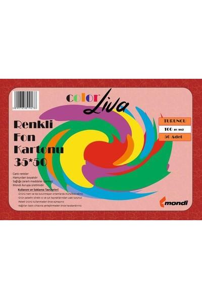 Color Liva Mondi Fon Kartonu Turuncu 35X50 50'Li Paket