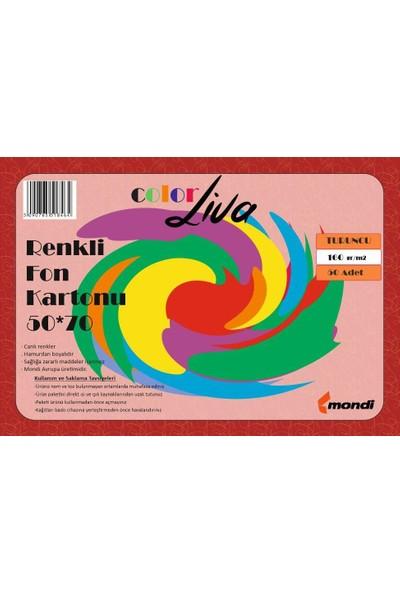 Color Liva Mondi Fon Kartonu Turuncu 50X70 100'lü Paket