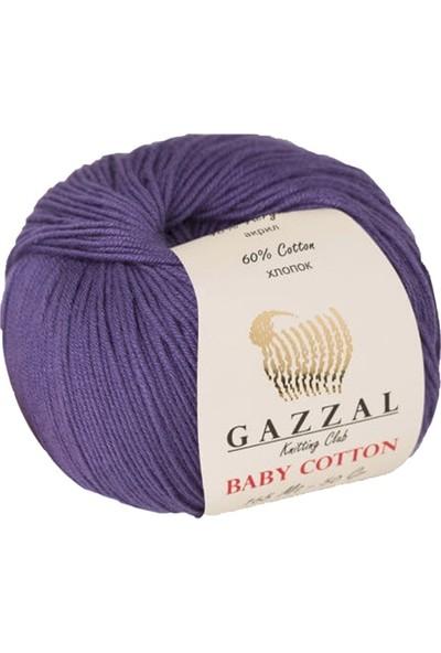 Gazzal Baby Cotton Mor Bebek Yünü-3440