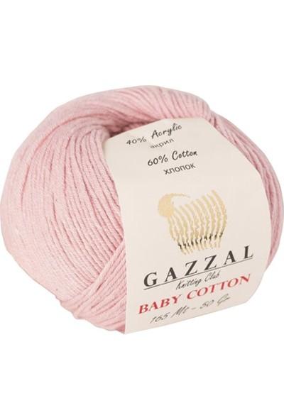 Gazzal Baby Cotton Pembe Bebek Yünü-3444