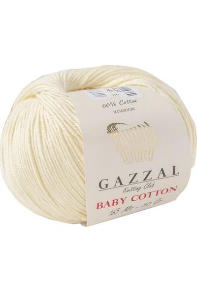Gazzal Baby Cotton Bej Bebek Yünü-3437