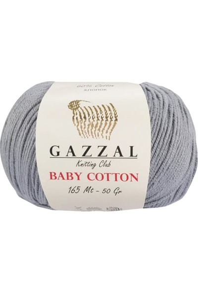 Gazzal Baby Cotton Gri Bebek Yünü-3430