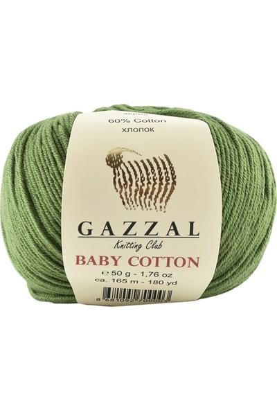 Gazzal Baby Cotton Yeşil Bebek Yünü-3449