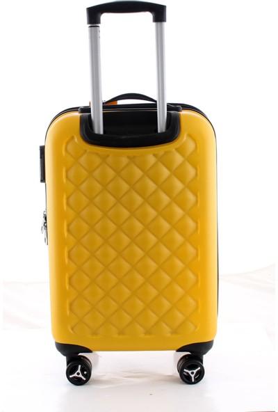 Ççs 5165 Abs Büyük Boy Valiz Sarı