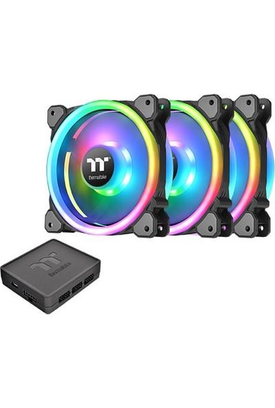 Thermaltake Riing Trio 14 Adreslenebilir RGB Ledli 3x140mm Fan + Kontrolcülü Kasa Fanı Kiti (CL-F077-PL14SW-A)