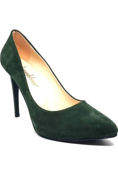 Shop And Shoes 146-121 Kadın Ayakkabı Haki Süet
