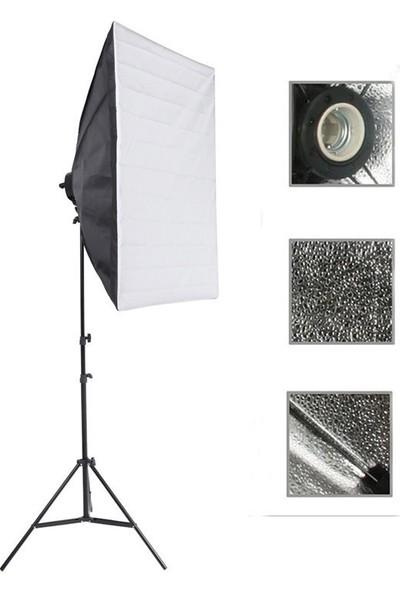 Deyatech Softbox 50X70Cm Tek Duyulu Sürekli Video Işığı Yotuber Kit Makeup Kit