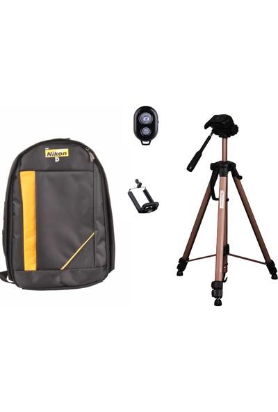 Deyatech Professional Kit 156Cm Tripod Dslr Nikon Çanta+Bluetooth