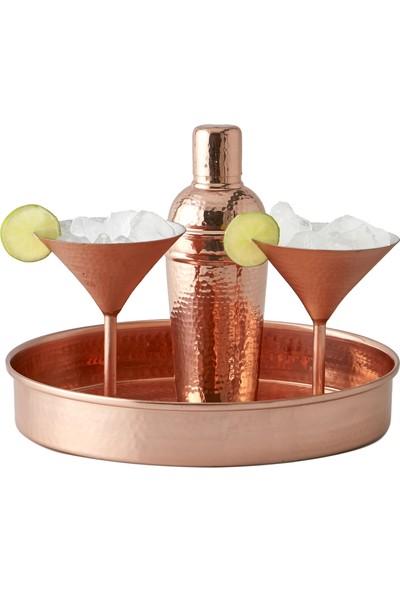 Copper Co. Bakır Servis Tepsisi 30 cm