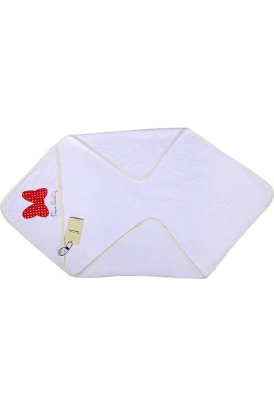 Pierre Cardin Kundak Banyo Havlusu 75 x 75 cm Kırmızı Papyon