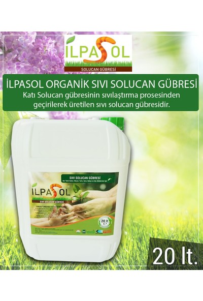 İlpasol®Organik Sıvı Solucan Gübresi 20 Litre