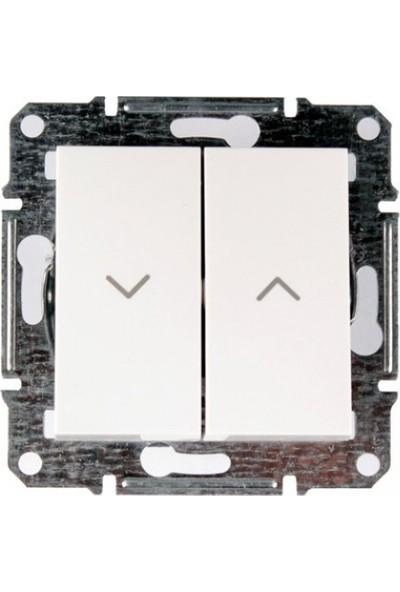 Schneider Electric Asfora Beyaz Çerçevesiz Stor Çağırma