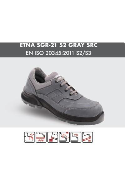 Segura Sgr21 S2 Gri Nubuk Çelik Burunlu Comfort Ayakkabı