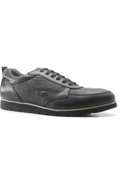 Zirve Hakiki Deri Siyah Spor Erkek Ayakkabı