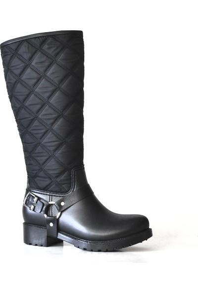 Ahs Collection Fermuarlı Uzun Waterproof Kadın Yağmur Çizmesi