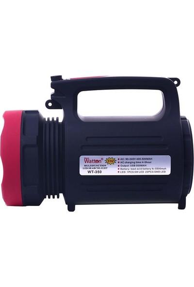 Watton Wt-350 Çift Yönlü Projektör Işıldak (Powerbanklı)