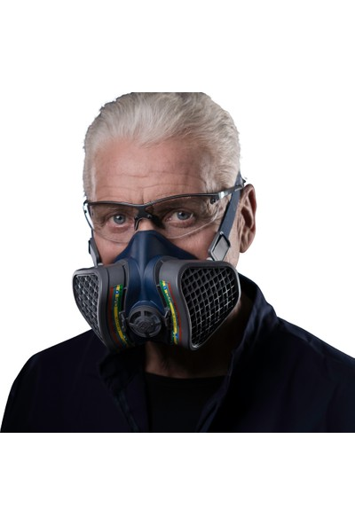 GVS Elipse Abek1 Yarım Yüz Gaz Maskesi+ 1 Çift Abek1 Filtre