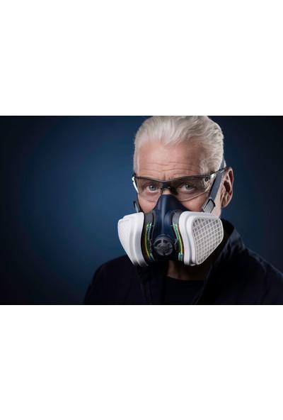 GVS Elipse Abek1-P3 Yarım Yüz Gaz Maskesi+ 1 Çift Abek1 Gaz Filtresi+P3 Filtre