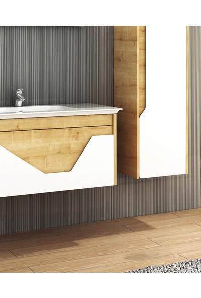Emart Smart 100 cm Lüks Banyo Dolabı ve Boy Dolabı