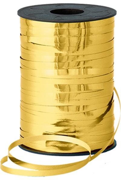 Baloncuu Metalik Altın Rengi Gold Rafya - 200 Metre - Balon İpi