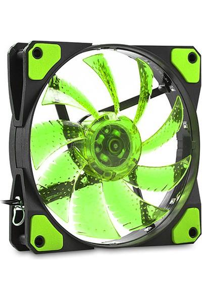 Evercool CS1230G 120x120x25 mm Yeşil Işıklı Kasa Fanı