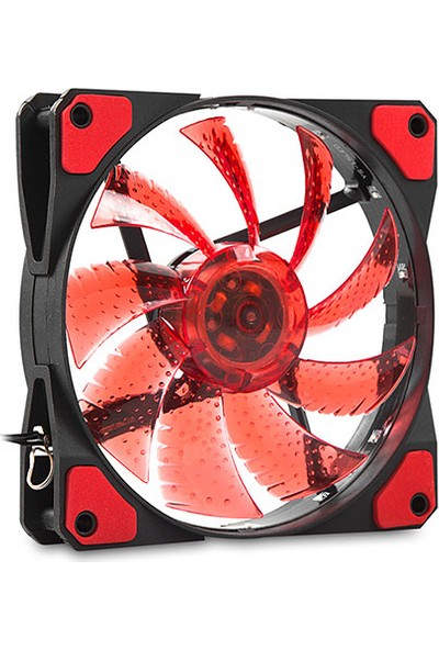 Evercool CS1230R 120x120x25 mm Kırmızı Işıklı Kasa Fanı
