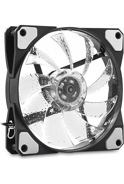 Evercool CS1230W 120x120x25 mm Beyaz Işıklı Kasa Fanı