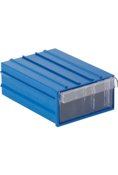 Sembol Plastik Set 202 Mavi Şefaf Plastik Çekmeceli Kutu