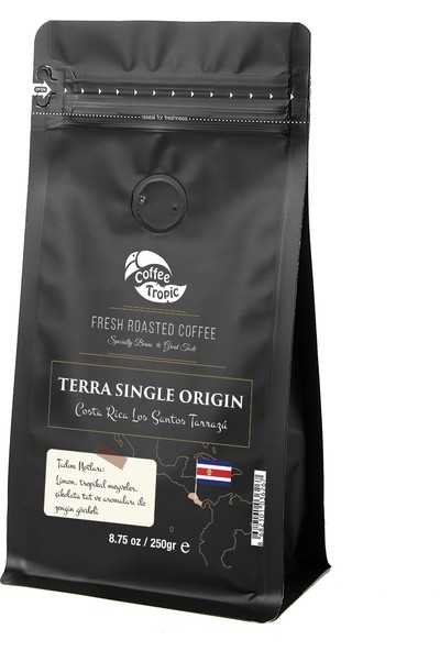 Coffeetropic Terra Single Origin Costa Rica Los Santos Tarrazu 250 gr