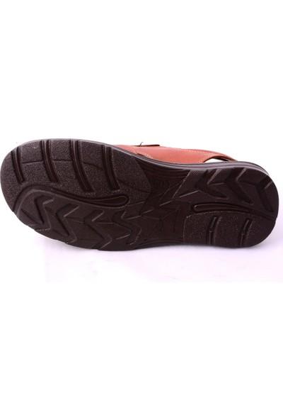 İmperial Taba %100 Hakiki Deri Sandalet Terlik