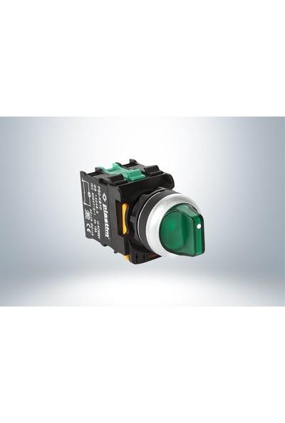 Plastim Işık Mandal Buton 0-1 Yeşil Led 220V