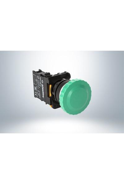 Plastim Yaylı Mantar Buton Yeşil