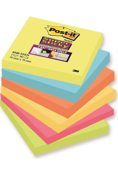 Post-İt® Super Sticky Not, Tutti Frutti Serisi, 6Lı Paket, 90 Yaprak, 76X76Mm
