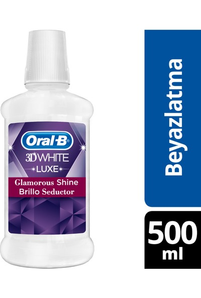 Oral B Ağız Çalkalama Suyu 3 Boyutlu Beyazlık Luxe 500 ml