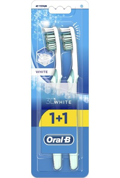 Oral-B Diş Fırçası 3 Boyutlu Beyazlık 40 Orta 1 Alana 1 Bedava Paketi