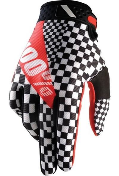 Enduro Motosiklet Eldiveni Xl Beyaz Siyah