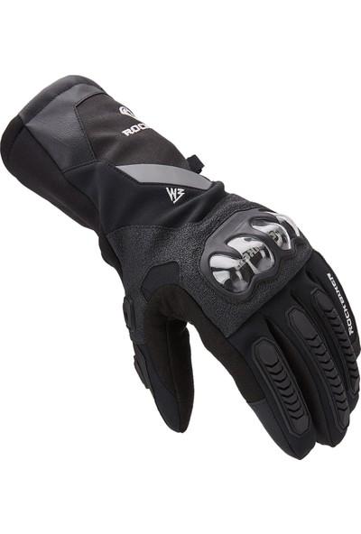 Enduro Kışlık Motosiklet Eldiveni Su Rüzgar Geçirmez L Siyah