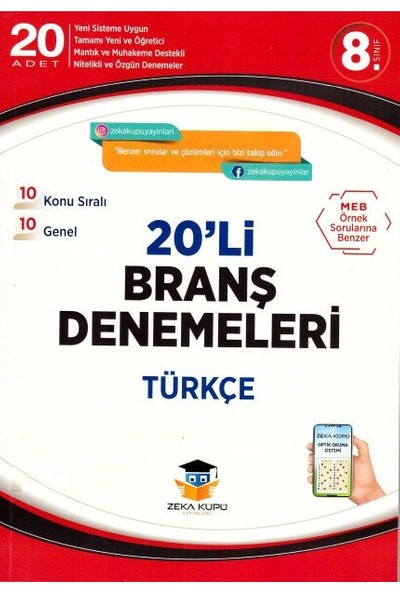 Zekaküpü 8.Sınıf Lgs Türkçe 20'Li Branş Denemeleri