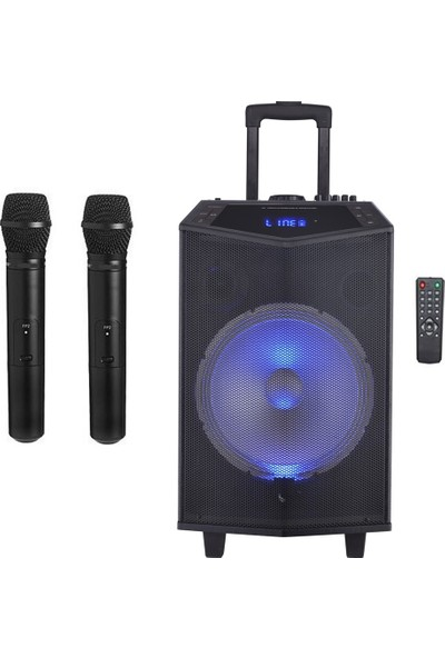 Oyility Dk-12 Karaoke Mikrofonlu Taşınabilir Portatif Ses Sistemi 300 Watt