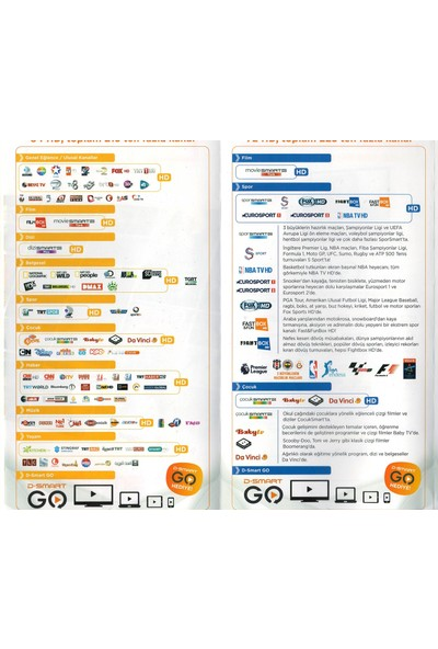 D-Smart Hd/Dfix 1 Yıllık Modül Ailespor Paketi