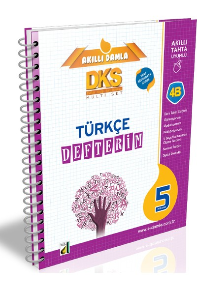 Damla Yayınevi Dks 4B Türkçe Defterim 5. Sınıf