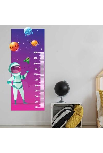 Yapıştırrco Astronot Boy Ölçer Sticker