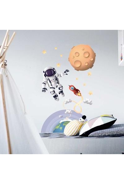 Yapıştırrco Astronot Duvar Stcikerı