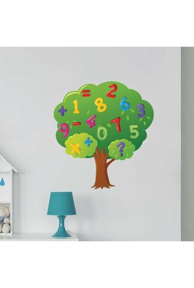 Yapıştırrco Ağaçtaki Sayılar Duvar Stickerı
