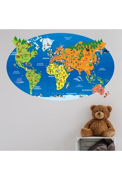 Yapıştırrco Dünya Haritası, Hayvanlar ve Ülke Bayrakları