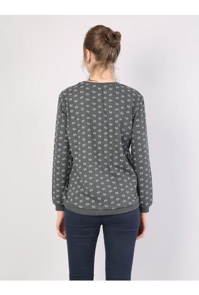Colins Regular Fit Kadın Antra Melanj Sweatshirt