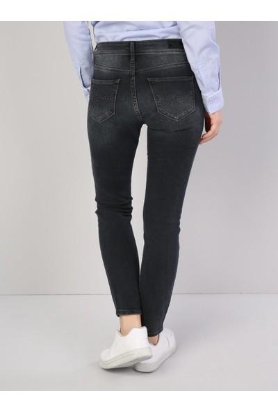 Colins 759 LARA Orta Bel Dar Paça Super Slim Fit Siyah Kadın Jean Pantolon